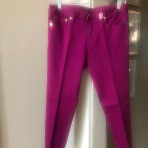 Tory Burch raspberry jeans